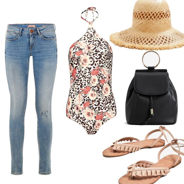jeans hlace i jednodijelni kostim
